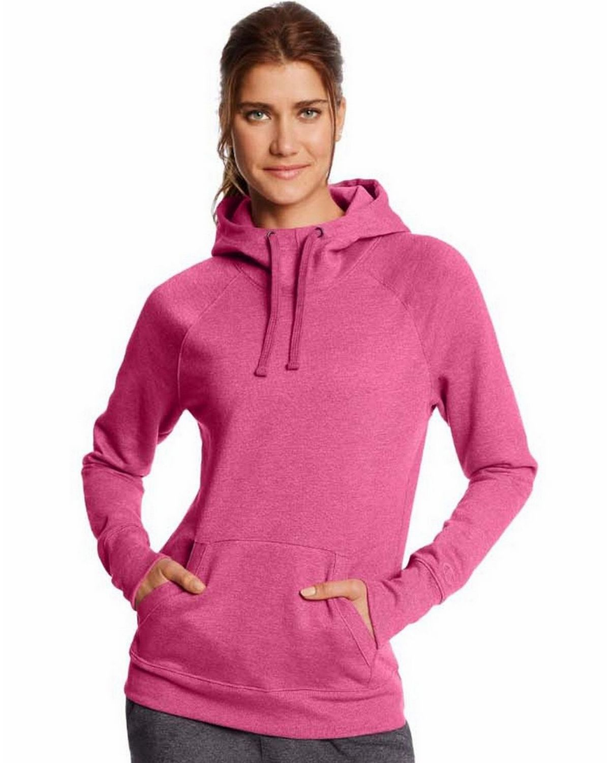Champion W0934 Fleece Pullover Hoodie - Dark Berry Purple Heather - XL W0934