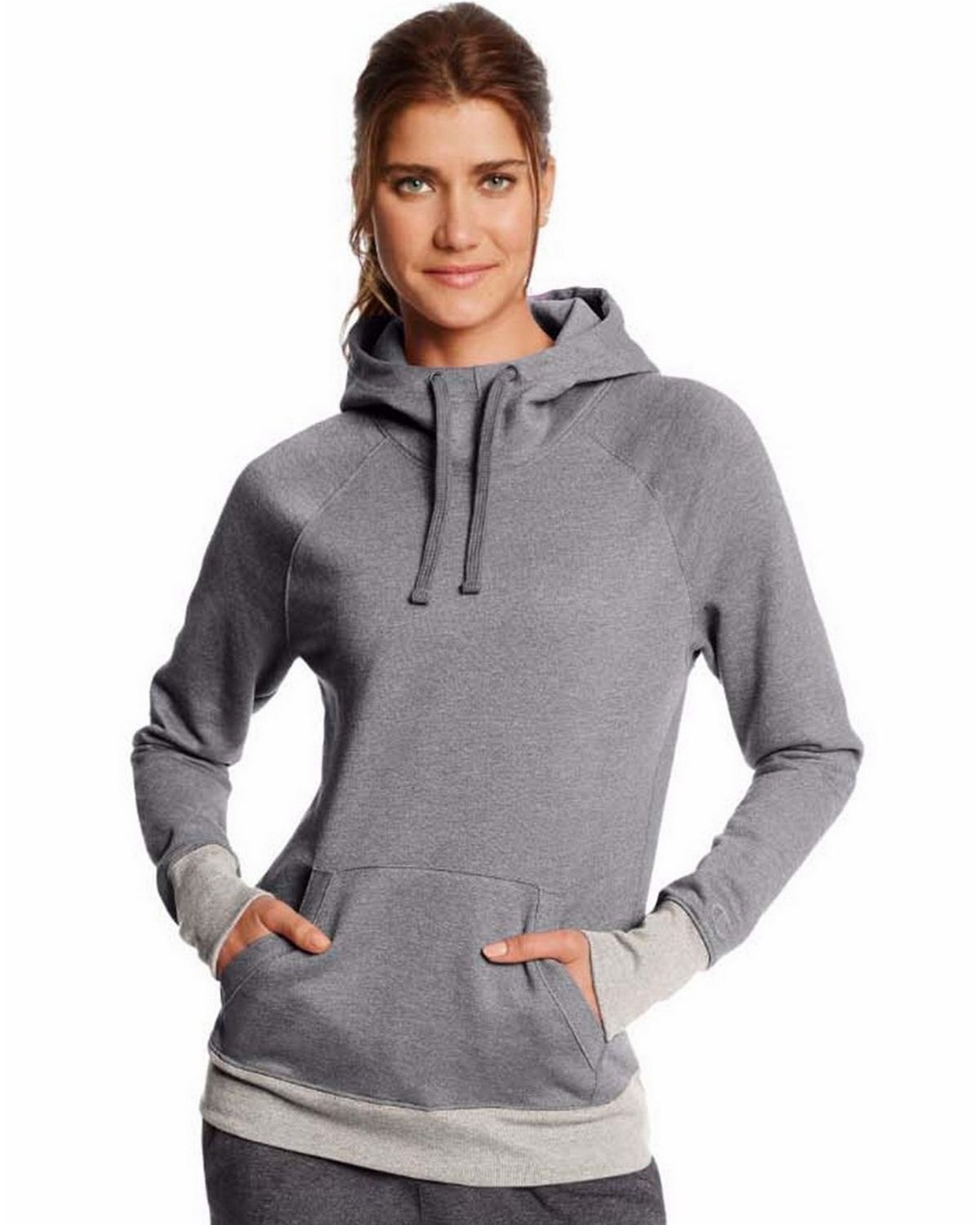 Champion W0934 Fleece Pullover Hoodie - Oxford Heather/Oatmeal Heather - S W0934