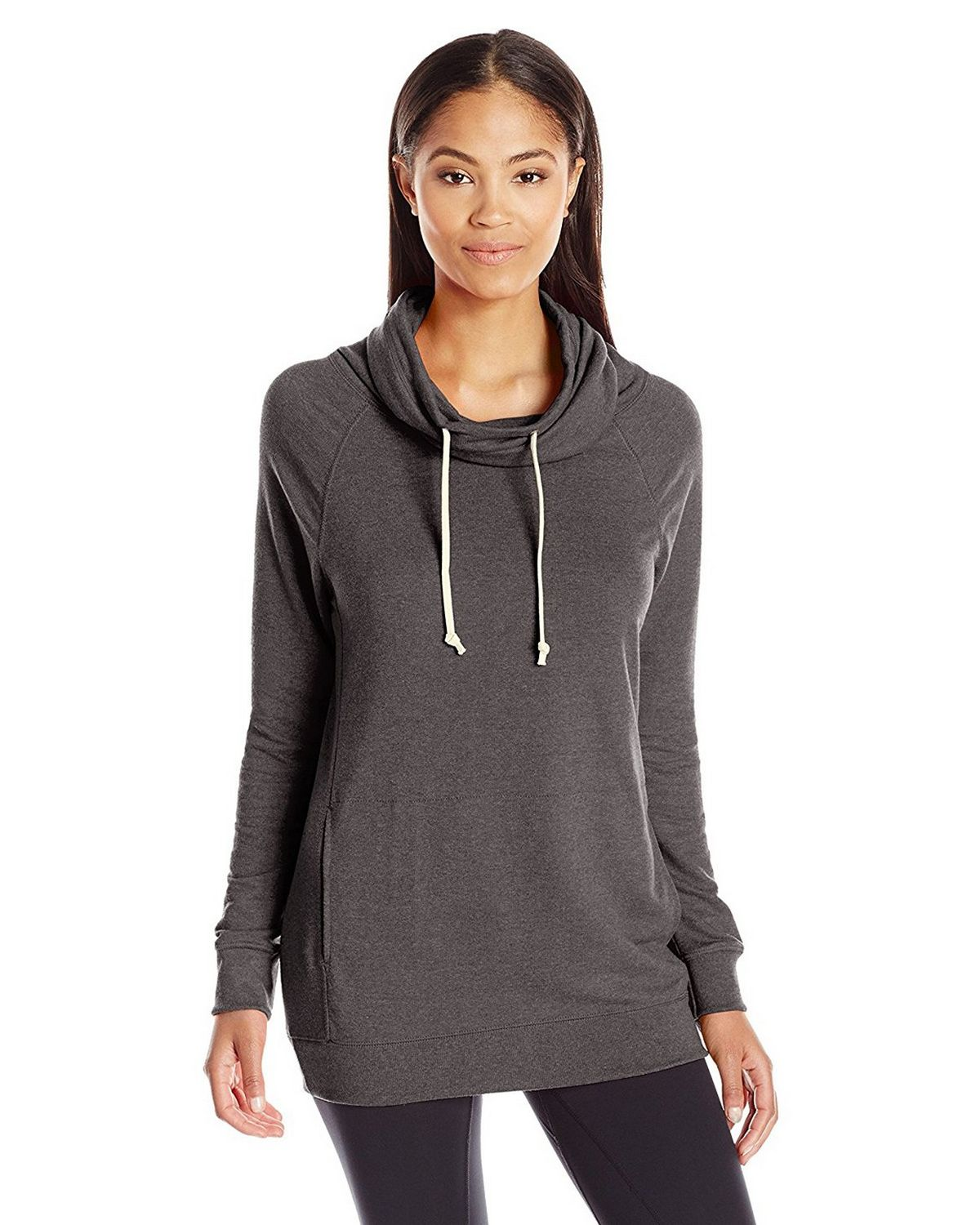 Champion W0942 Womens Funnel Neck Top - Granite Heather - XL W0942