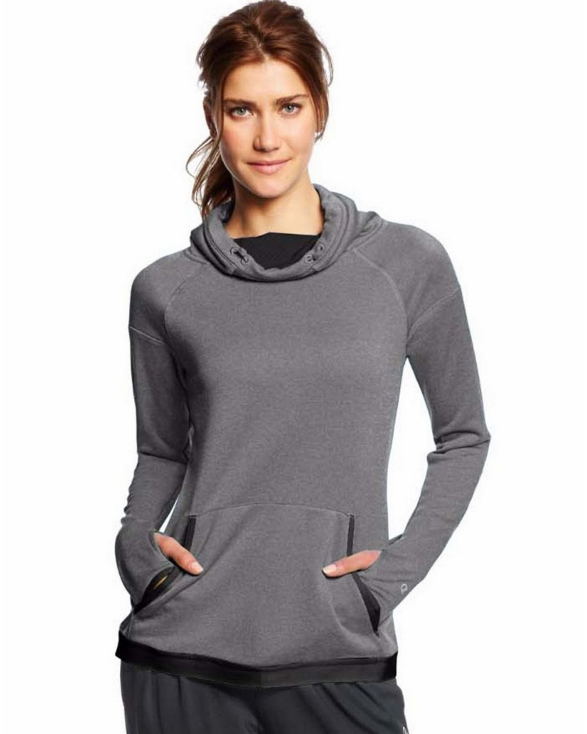 Champion W0995 Training Cover-Up - Granite Heather/Black - L W0995