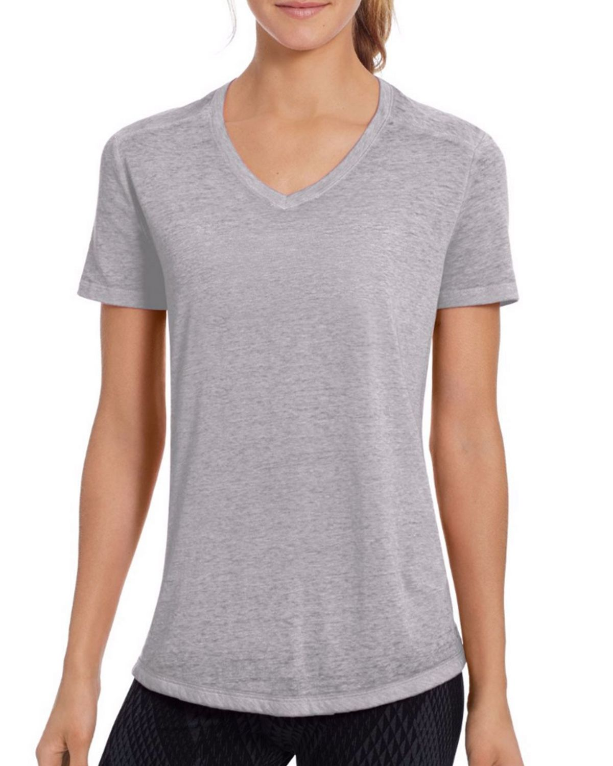 Champion W1272 Womens Boyfriend Tee - Oxford Grey Heather - M W1272