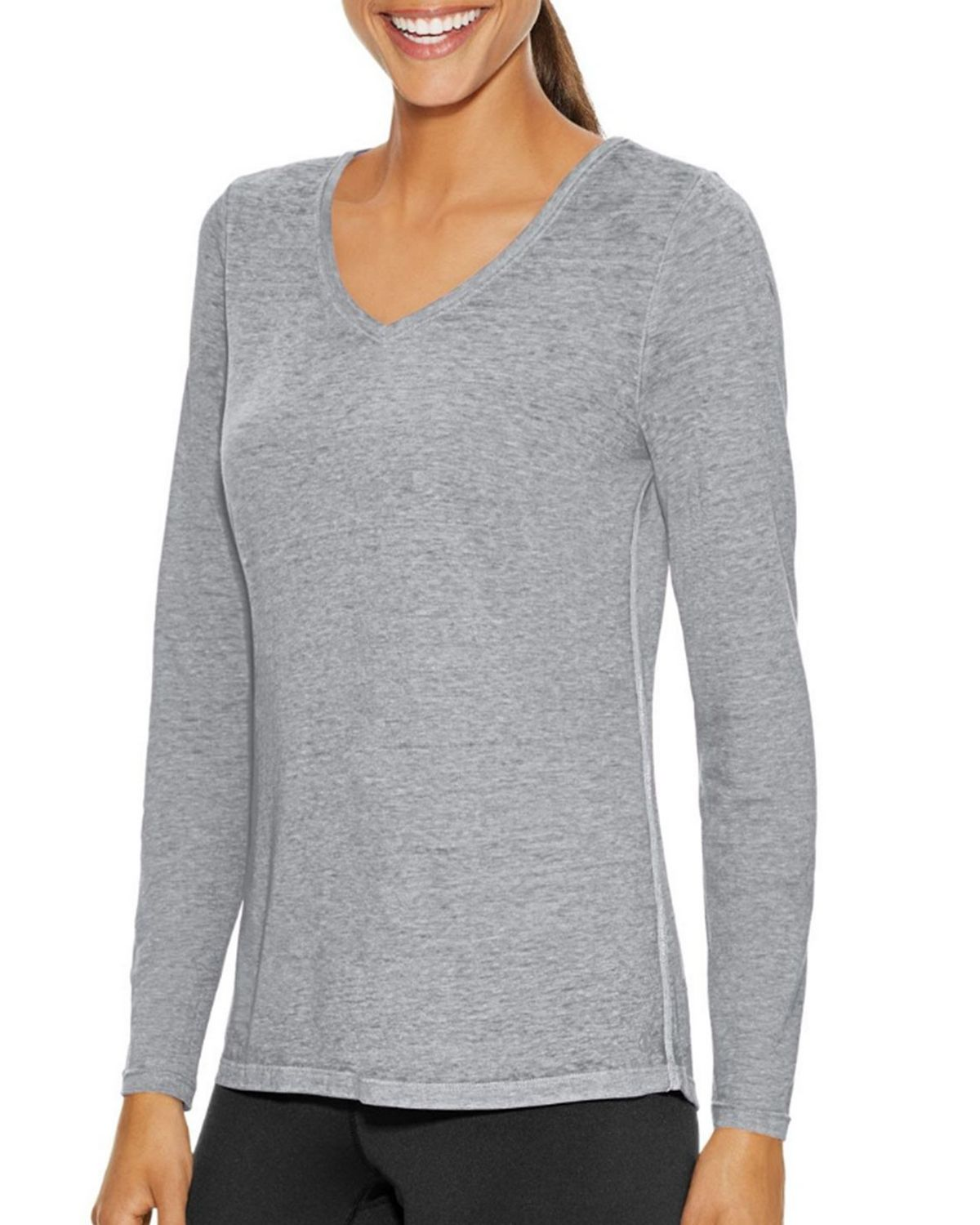 Champion W1273 Womens Authenic Wash Tee - Oxford Grey Heather - S W1273