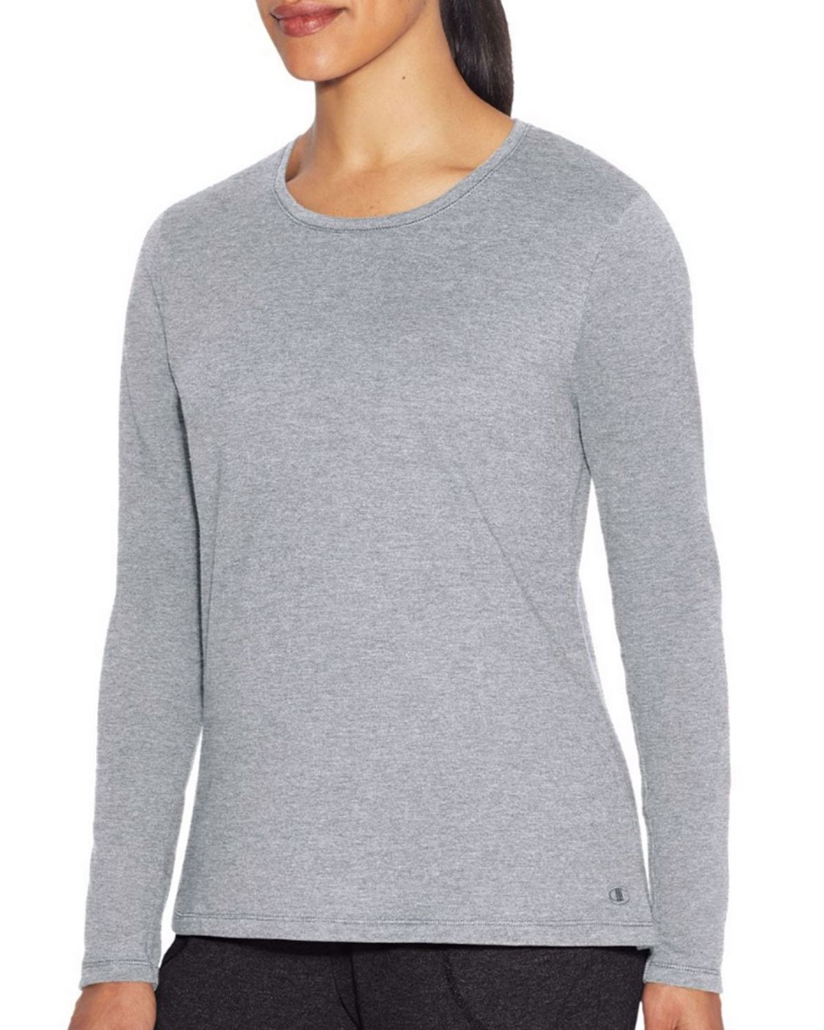 Champion W29563 Womens Vapor Tee - Oxford Grey Heather - S W29563