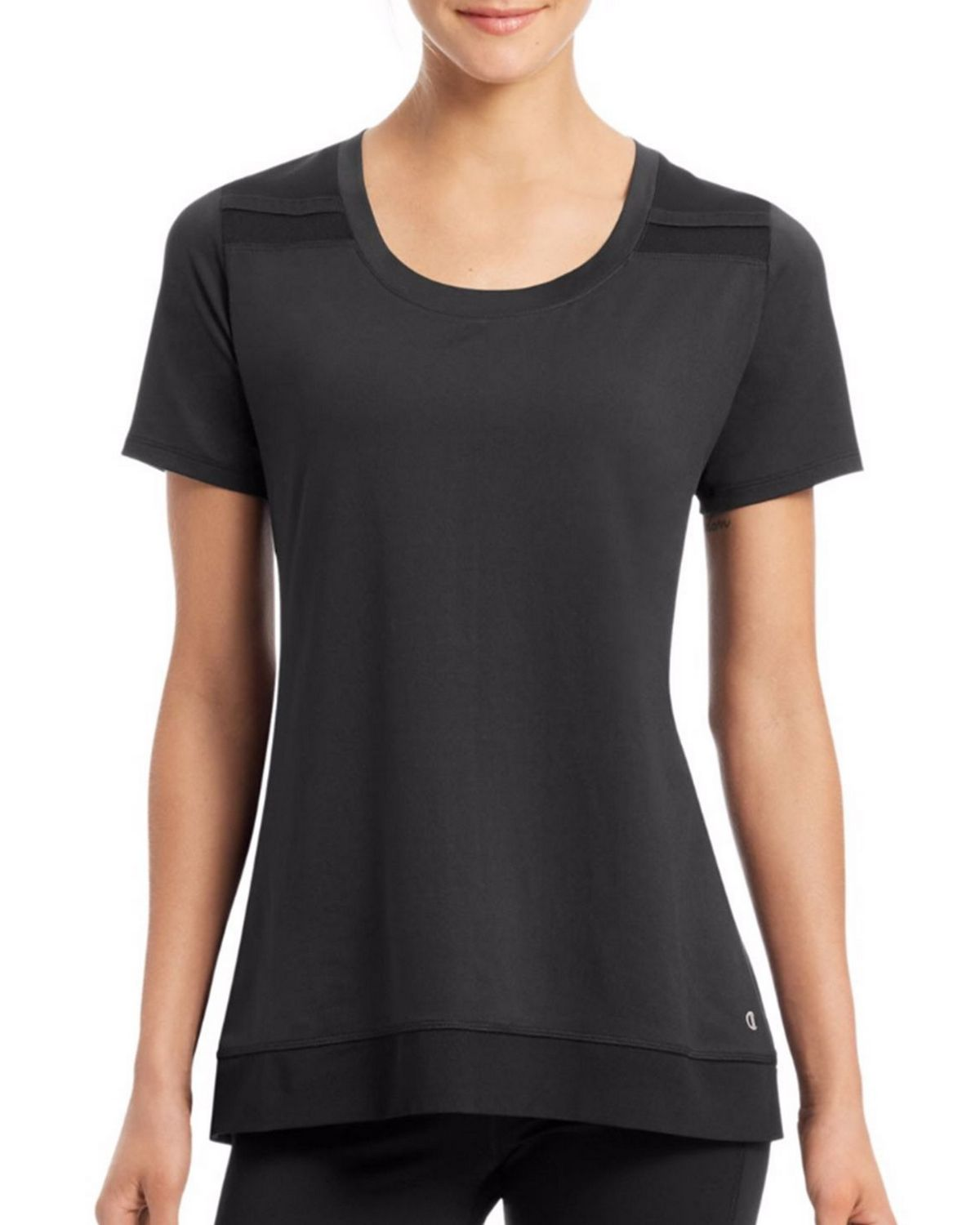 Champion W29917 Womens Short Sleeve Tee - Black - L W29917