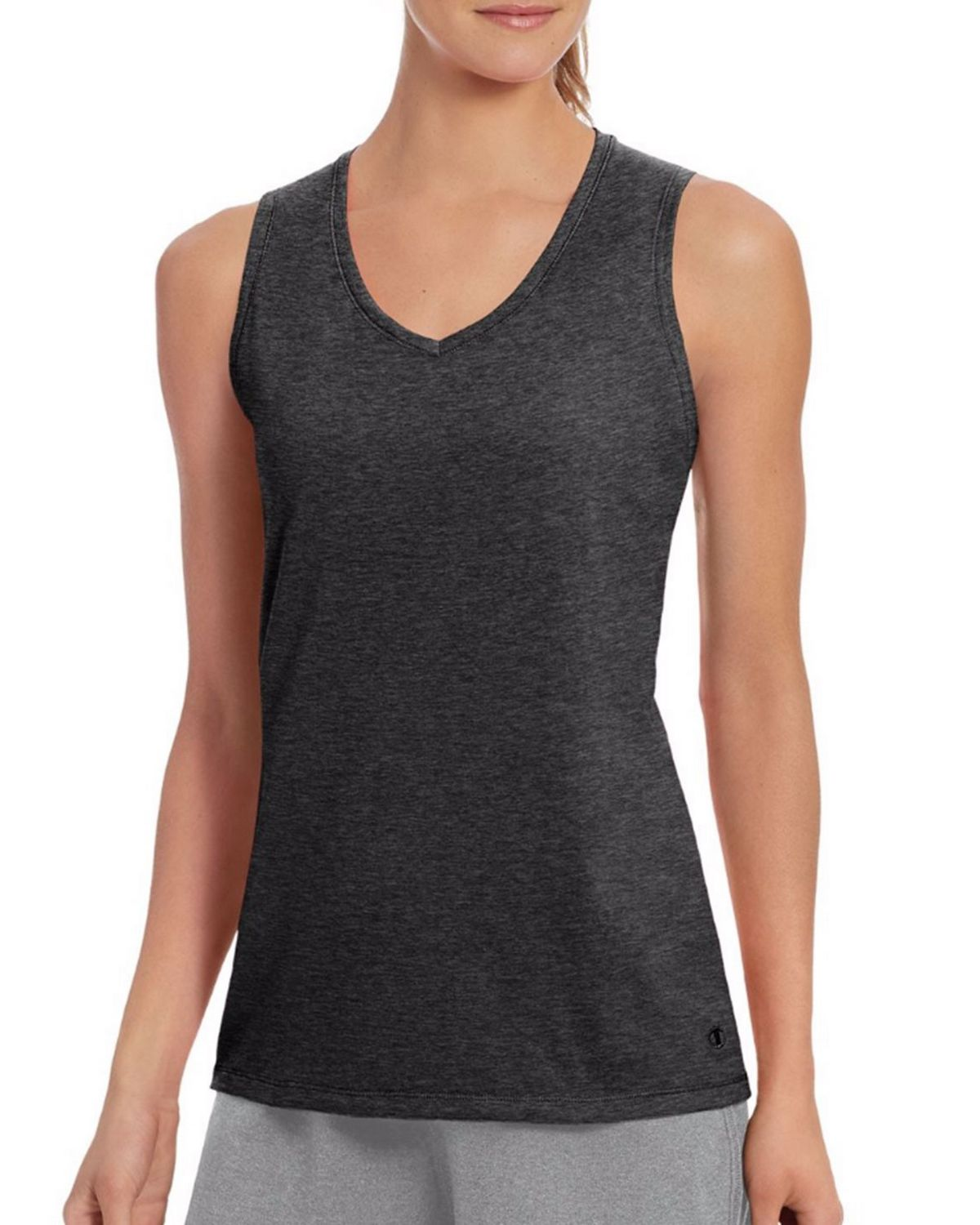 Champion W50062 Womens Vapor Tank - Granite Heather - XS W50062