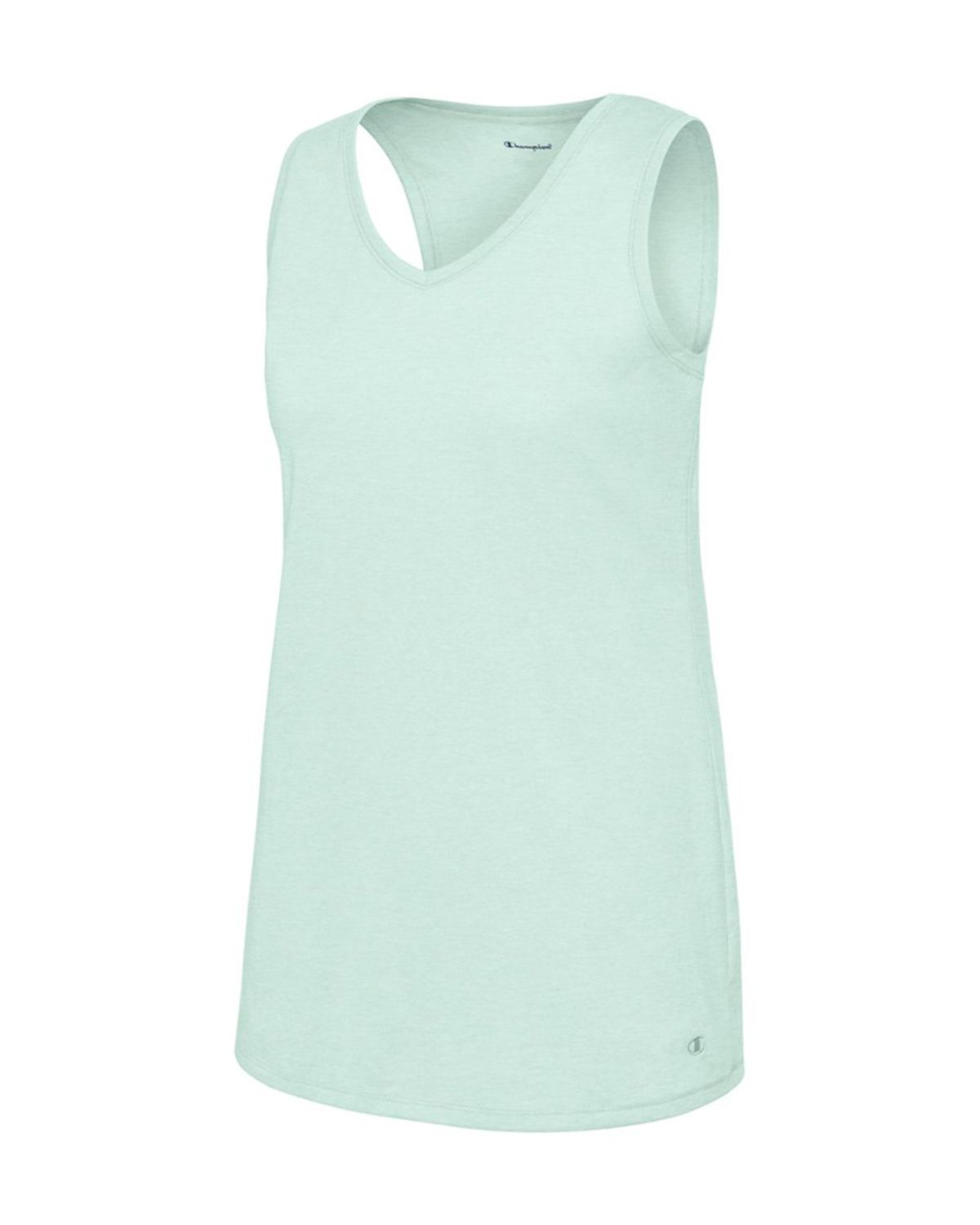 Champion W50062 Women's Vapor Cotton Tank - Steel Blue Heather - S #vapor