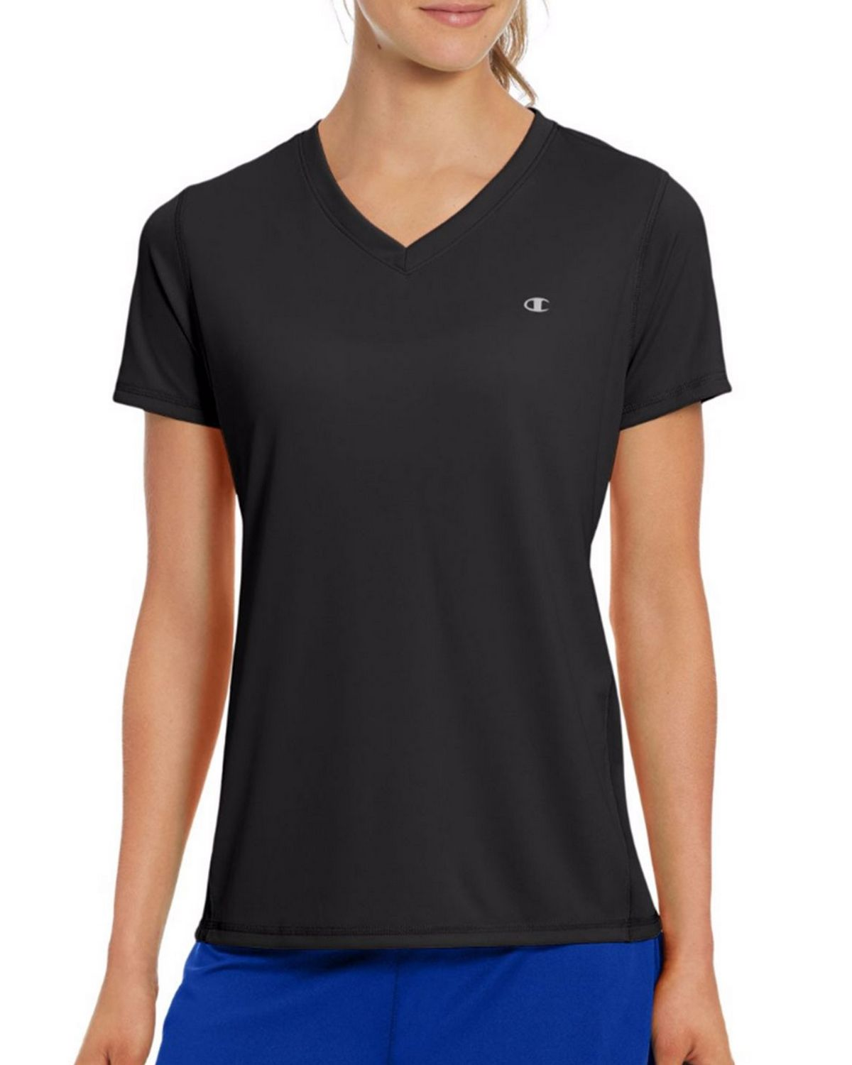 Champion W50063 Vapor Womens Tee - Black - XL W50063