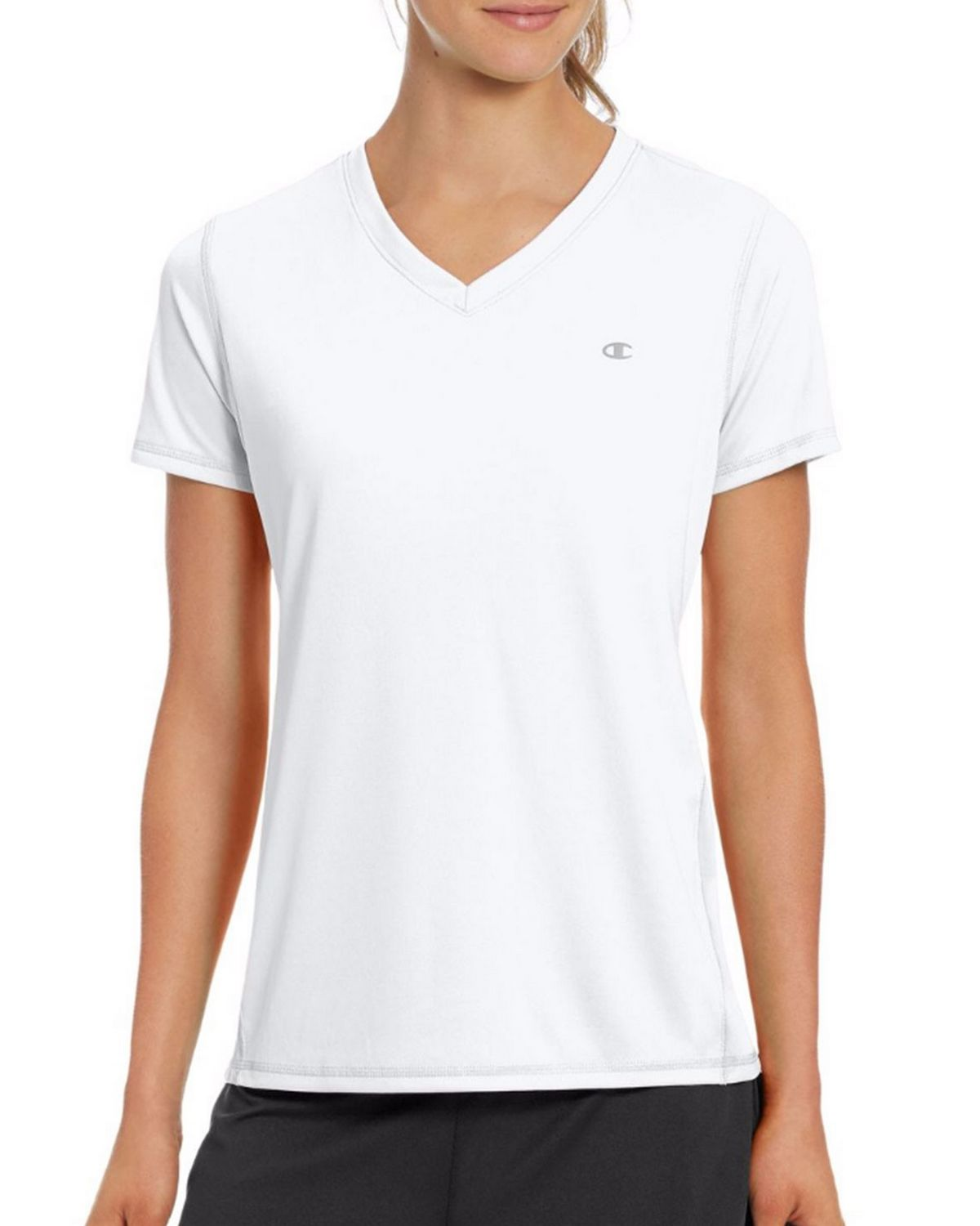 Champion W50063 Vapor Womens Tee - White - L W50063