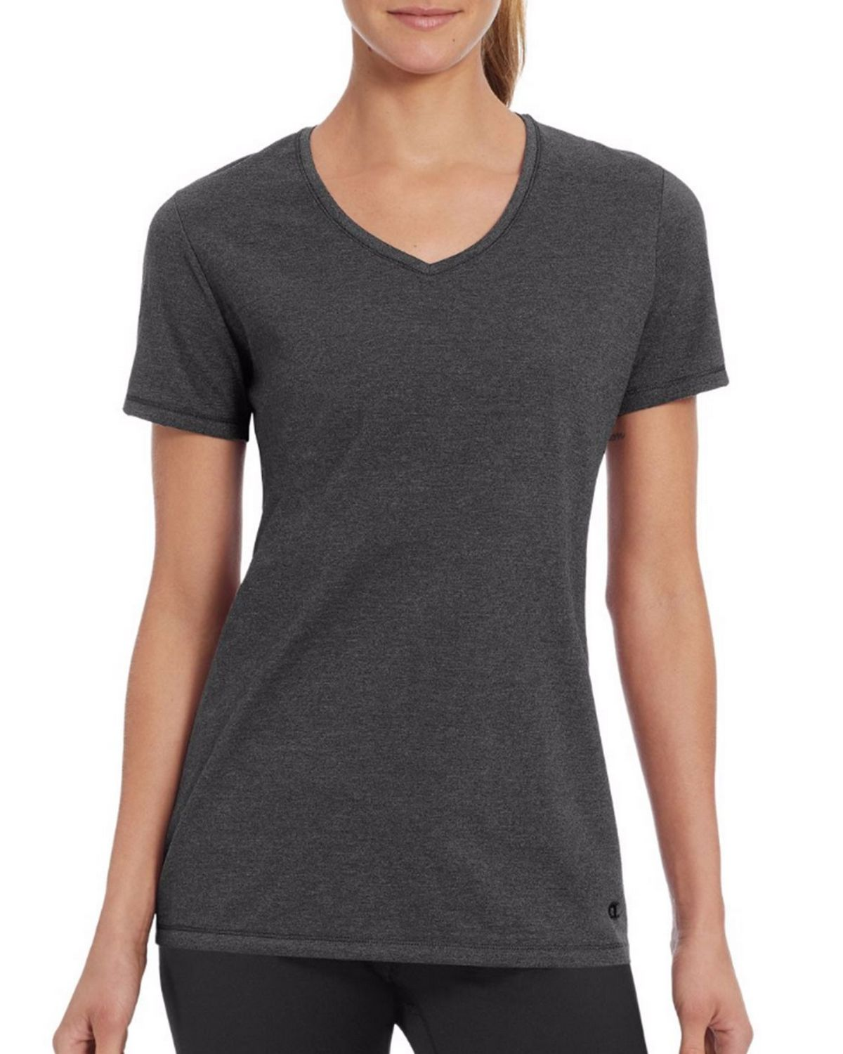 Champion W50064 Womens Vapor Tee - Granite Heather - M W50064