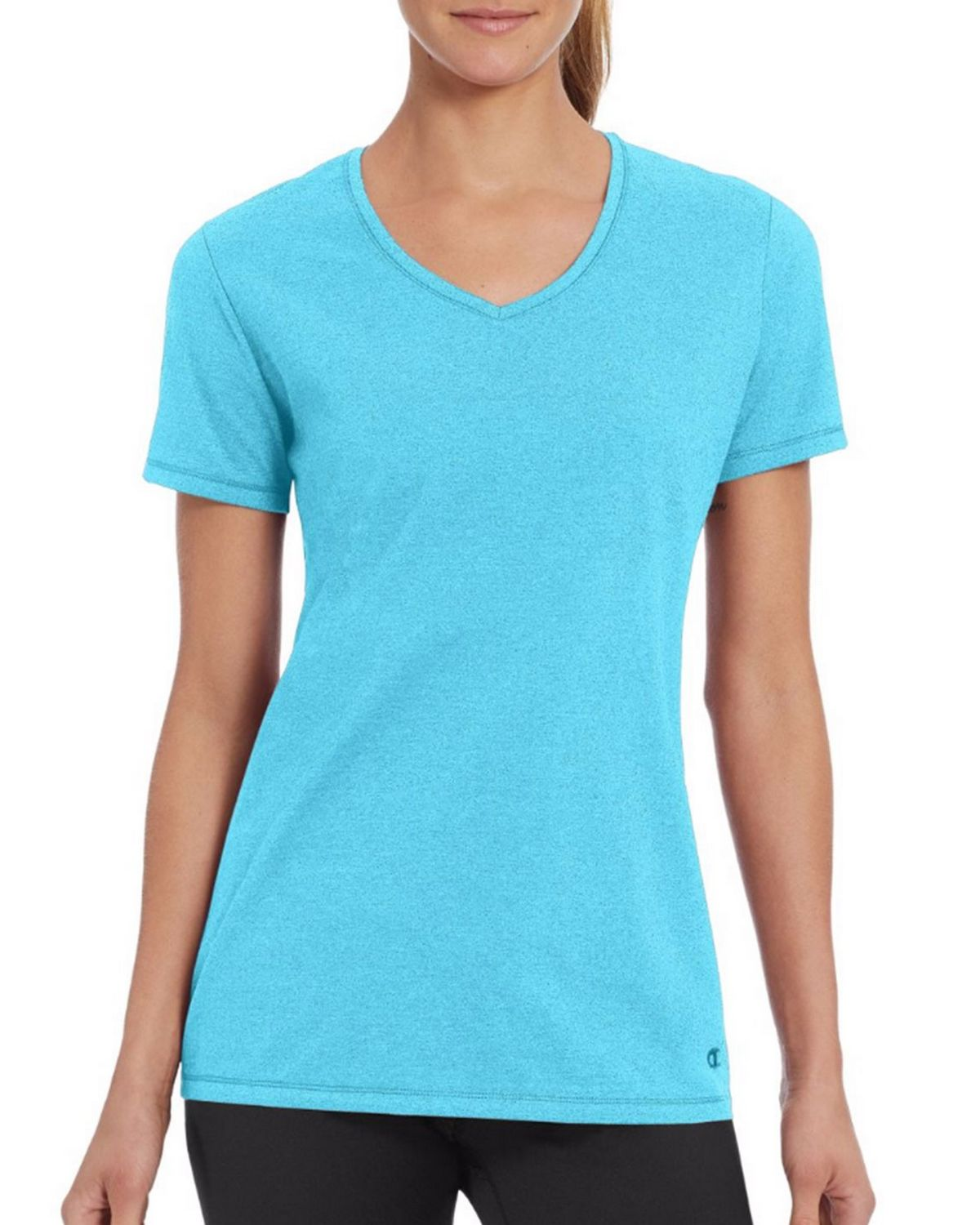 Champion W50064 Womens Vapor Tee - Turq Waters Heather - S W50064