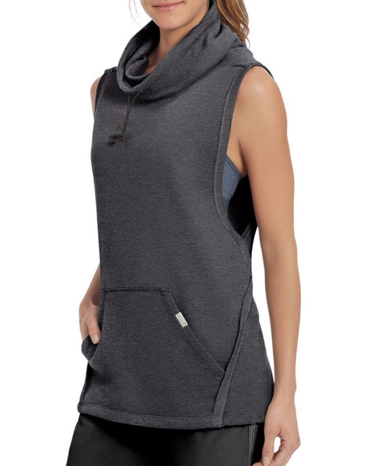 Champion W50067 Womens Sleeveless Pullover - Quarry Blue Heather - L W50067