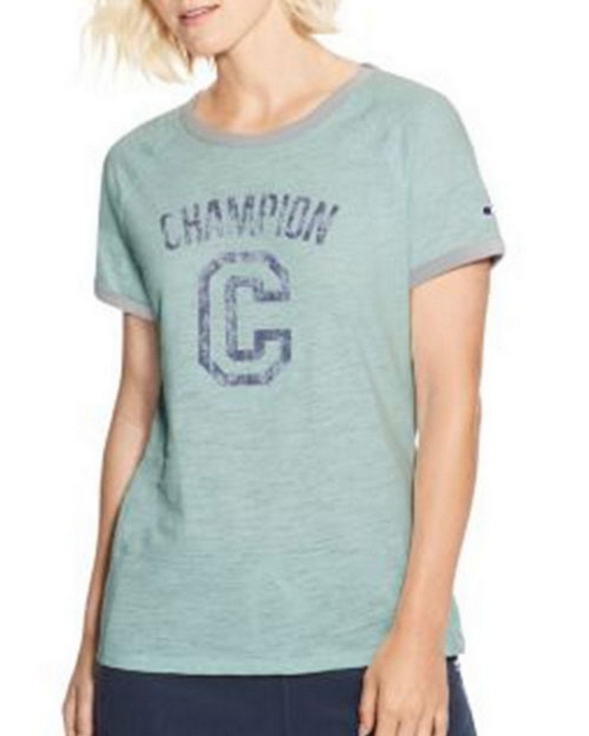 83671d2b Champion W9843G Womens Heritage Ringer T-Shirt - Free Shipping Available