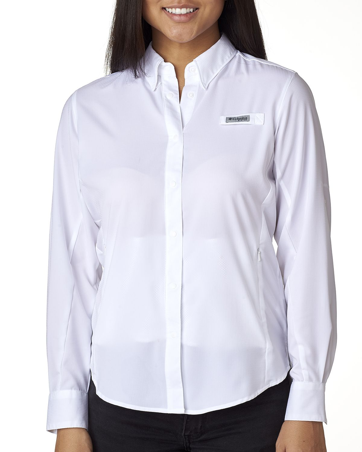 9d3a5bf9708 Buy Logo Embroidered Columbia 7278 Ladies Tamiami II Long-Sleeve Shirt