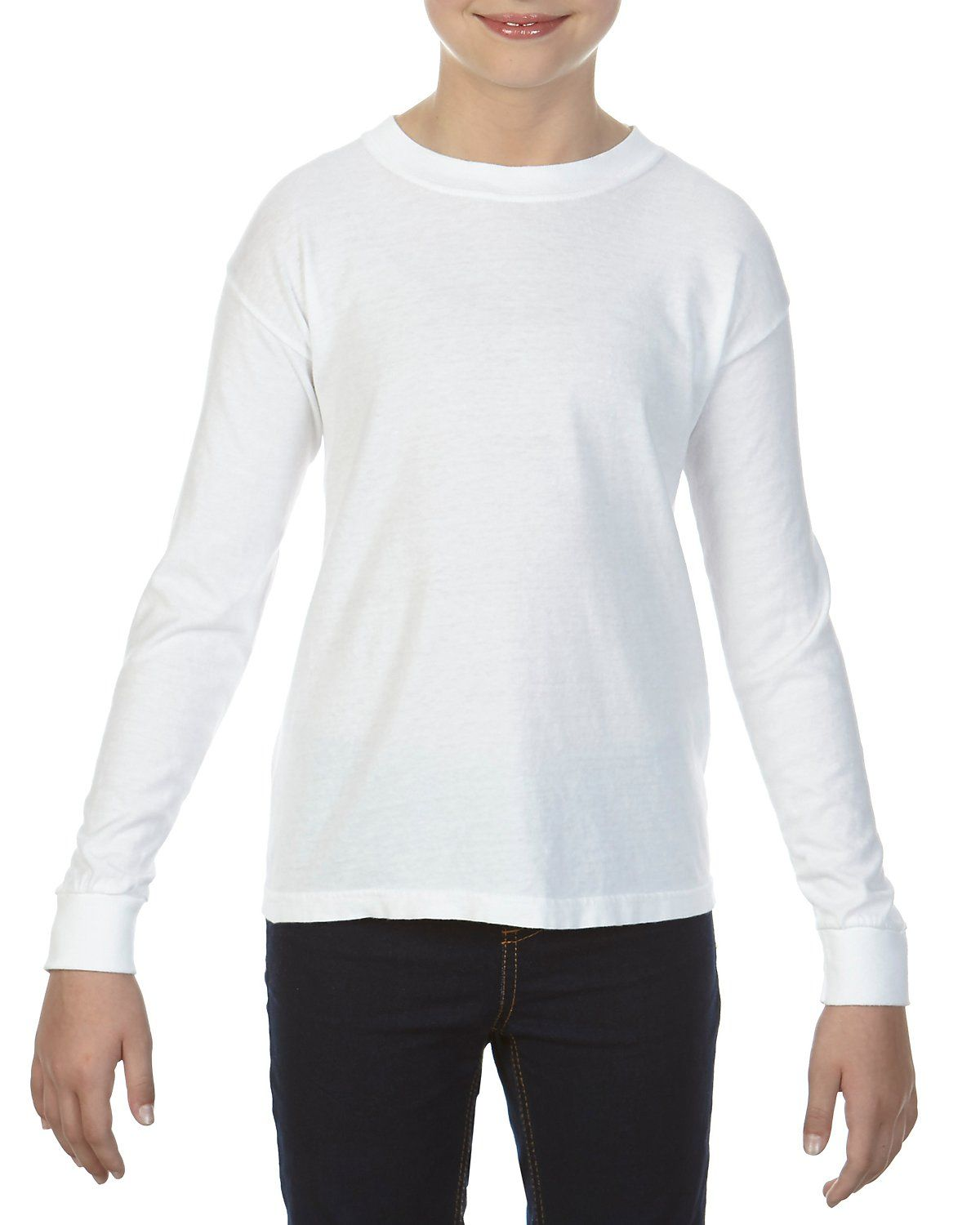 Buy Comfort Colors C3483 Youth 54 Oz Garment Dyed Long Sleeve T Shirt