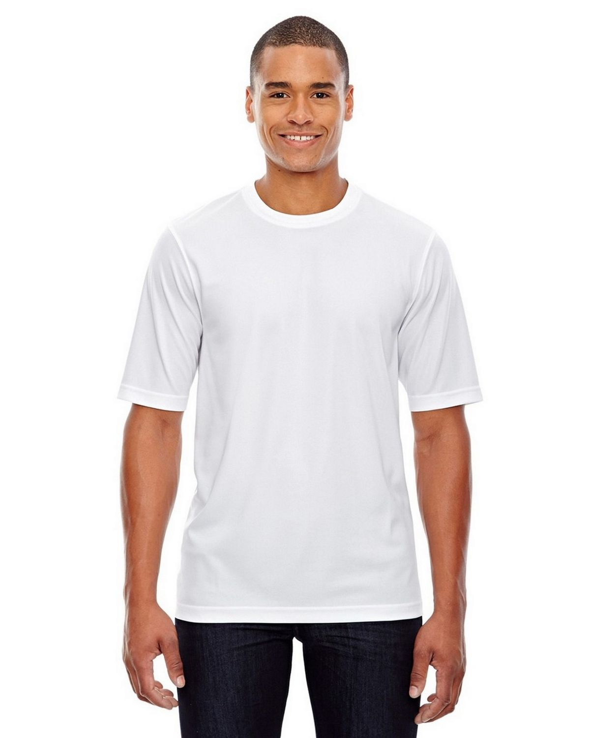 Core365 88182 Pace Mens Crew Neck T-Shirt - White - S 88182