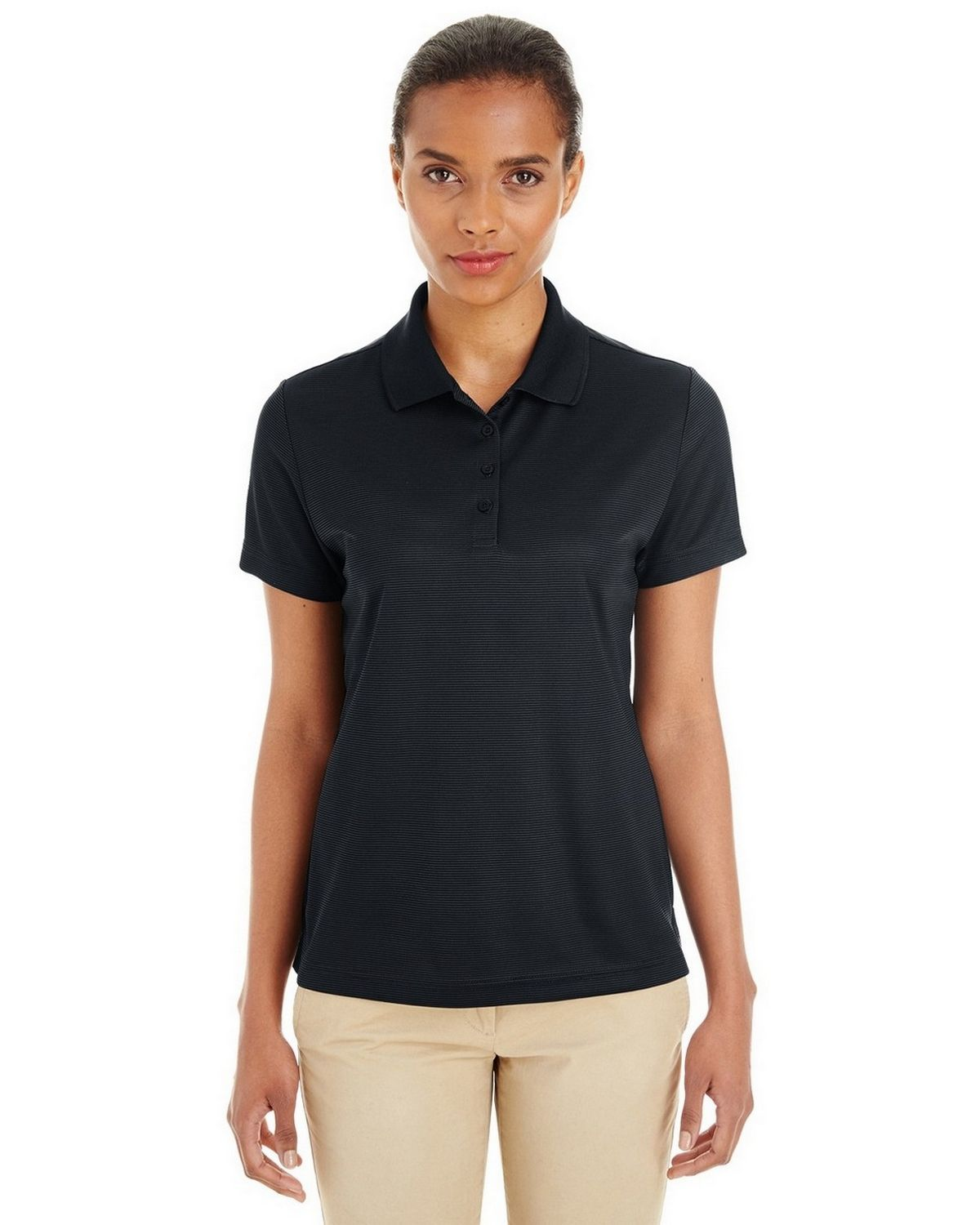 Core365 CE102W Ladies Express Microstripe Performance Piqué Polo