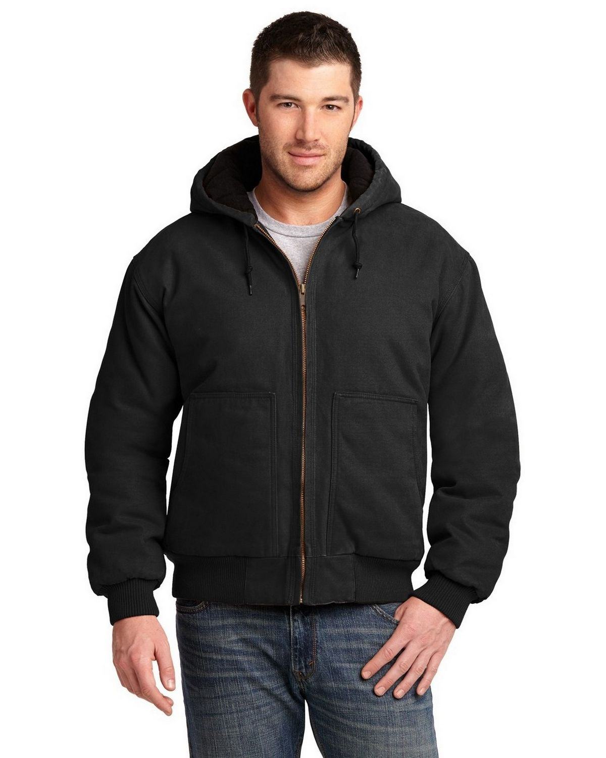 Cornerstone CSJ41 Insulated Hooded Work Jacket - Black - M CSJ41