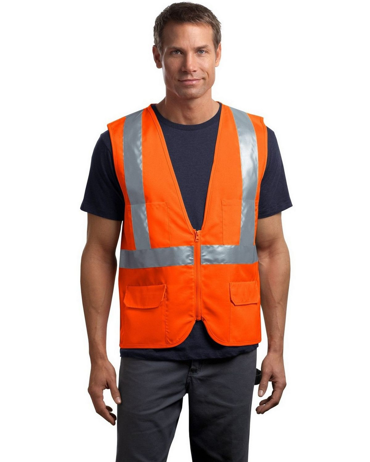 High Visibility Safety Work Vest Breathable Mesh Vest Crease-Resistance Workplace Safety Supplies Safety Clothing