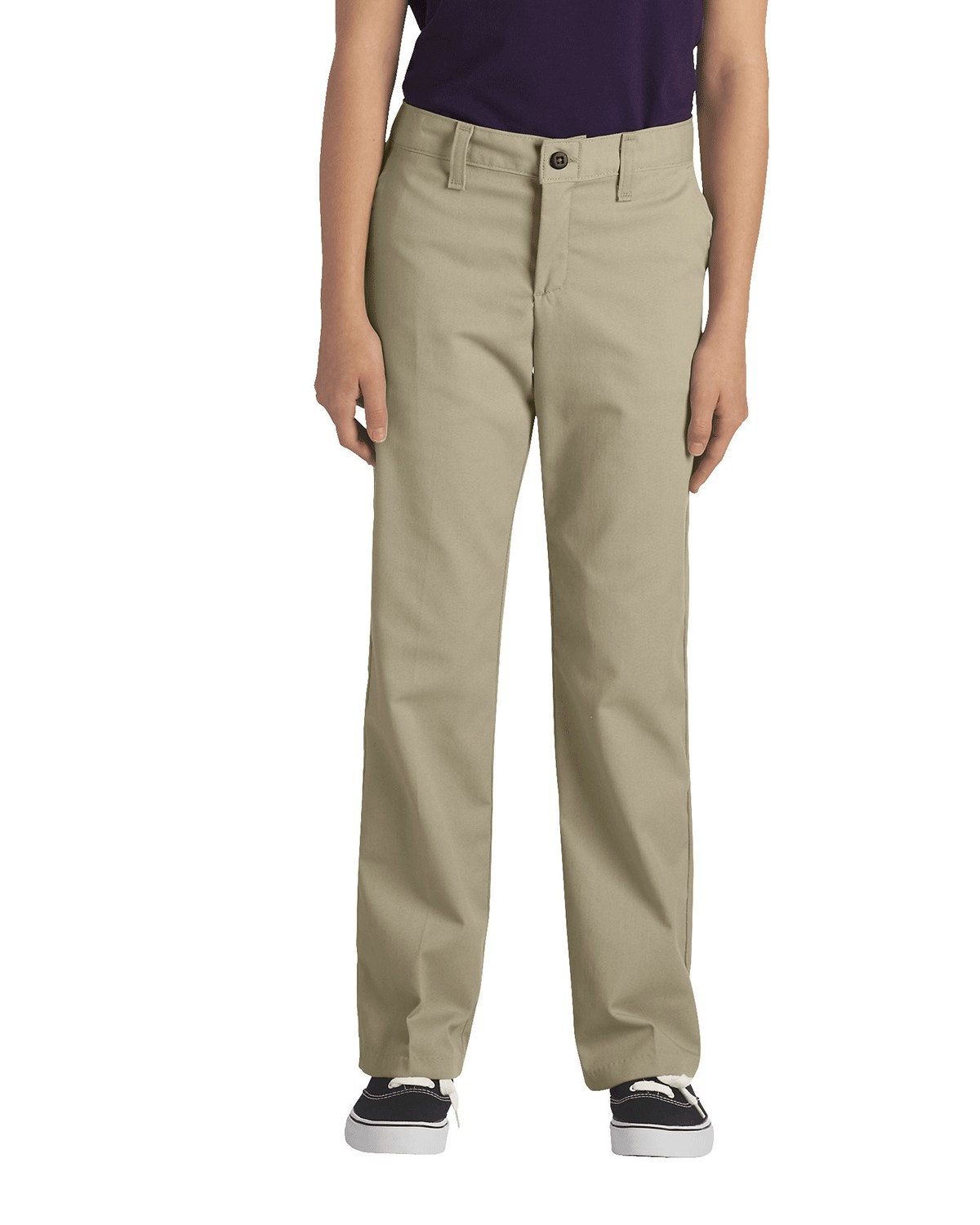 Dickies KP5518 Girls FlexWaist Classic Fit Straight-Leg Twill Stretch Pant - Desert Sand - 20 #%20