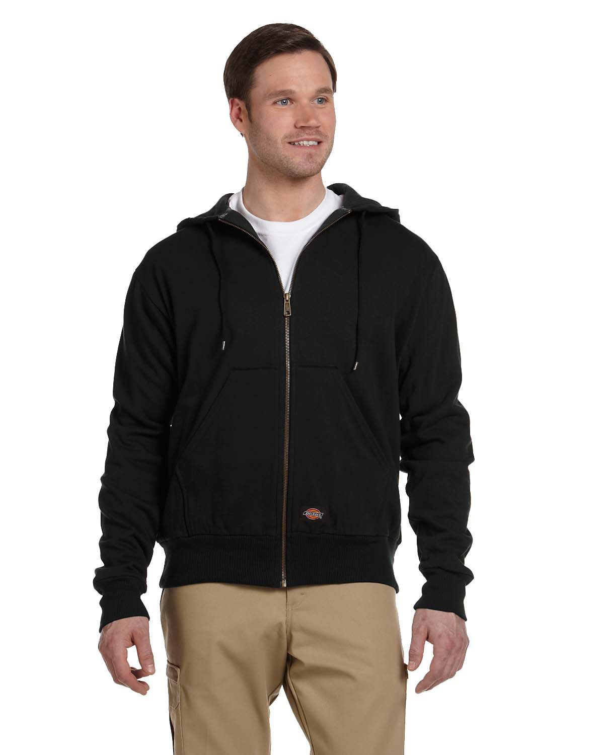 Dickies Men's Thermal Lined Fleece Hoodie - Black TW382
