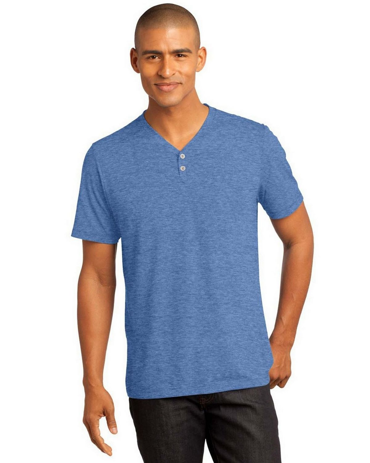7dd94c875198 Buy District DM342 Mens Tri-Blend Henley