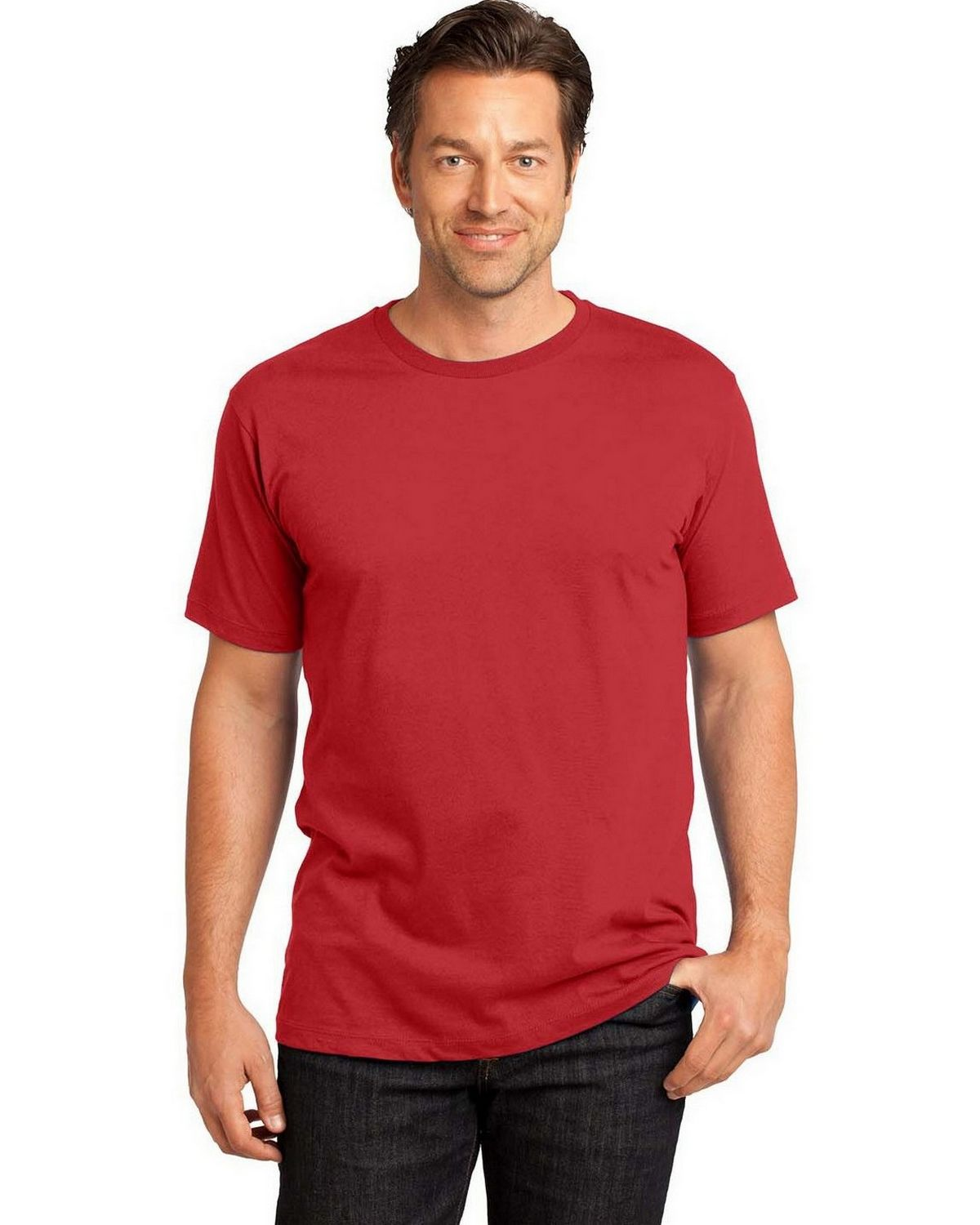 District Made DT104 S-Sleeve Perfect Tee - Classic Red - M DT104