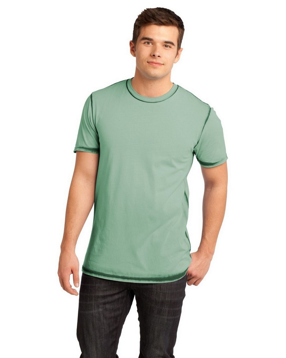 3753739e5 Buy District DT1200 Young Mens Faded Crew Tee