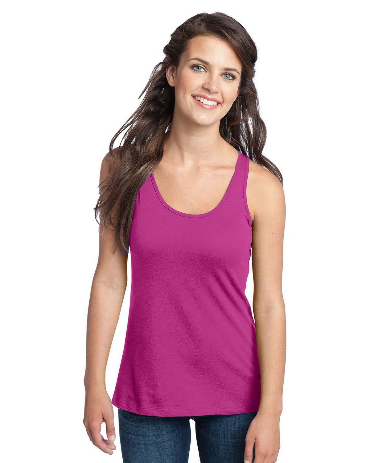 District DT237 Juniors Racerback Tank - Deep Royal - M DT237