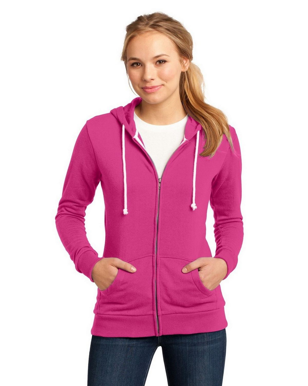 District DT290 Core Fleece Full-Zip Hoodie - Athletic Heather - XXL DT290