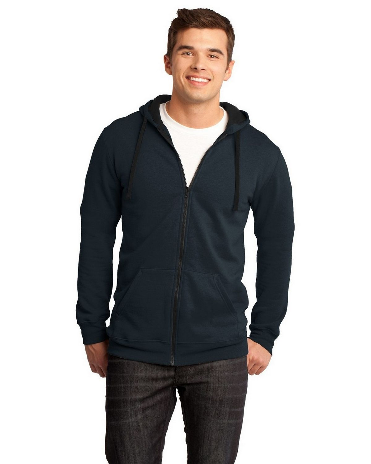 District DT800 The Concert Fleece Hoodie - New Navy - M DT800