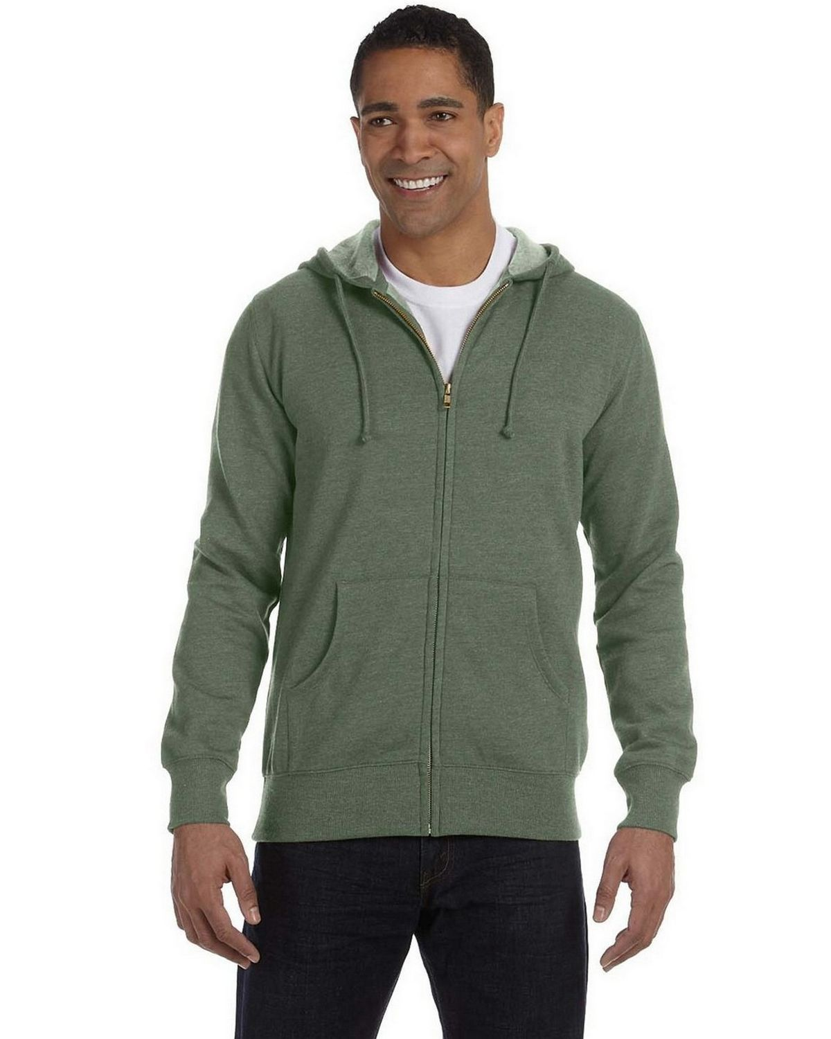 Econscious EC5680 Unisex Organic/Recycled Heathered Hood - Military Green - S EC5680