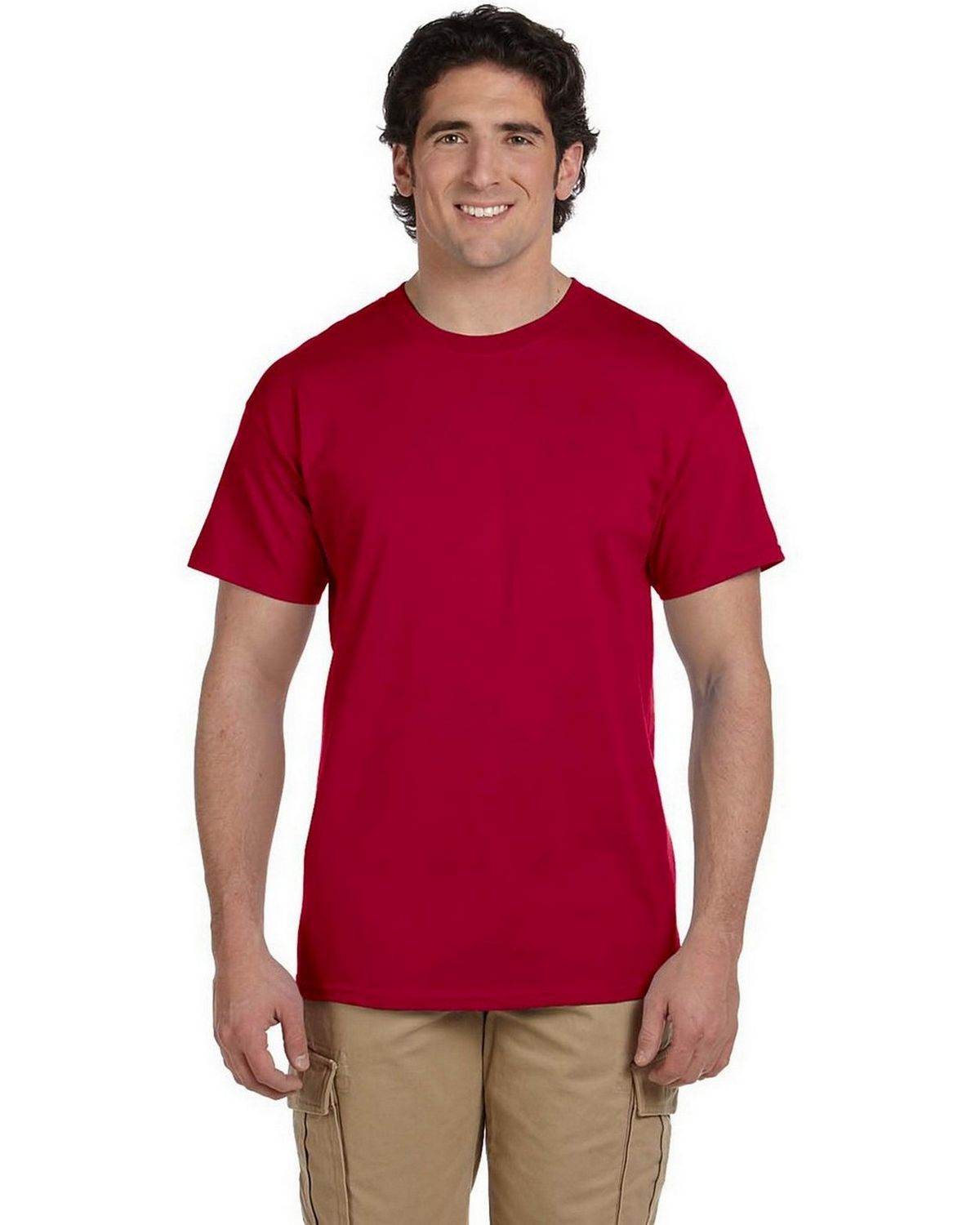 Fruit Of The Loom 3930 Short-Sleeve Tee - Crimson - L 3930
