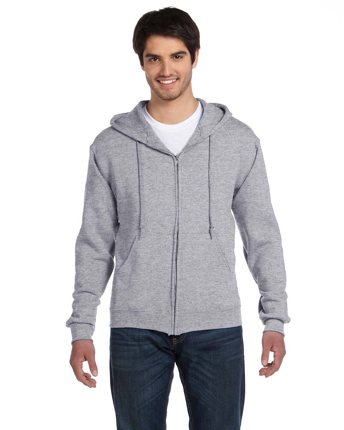 Fruit of the Loom 82230 Heavyweight 70/30 Full-Zip Hood - Athletic Heather - L 82230