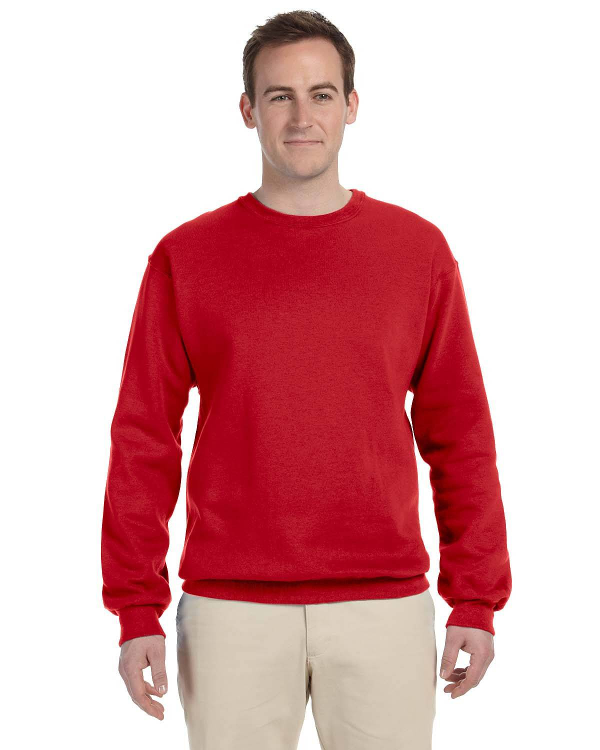 Fruit of the Loom 82300 70/30 Super Heavyweight Crew - True Red - M 82300
