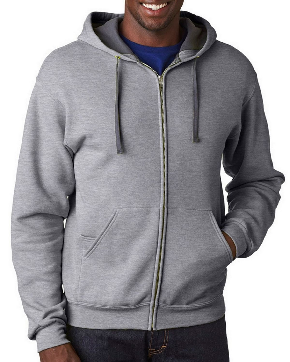 Fruit Of The Loom SF73 Men's Sofspun Full-Zip Hooded Sweatshirt