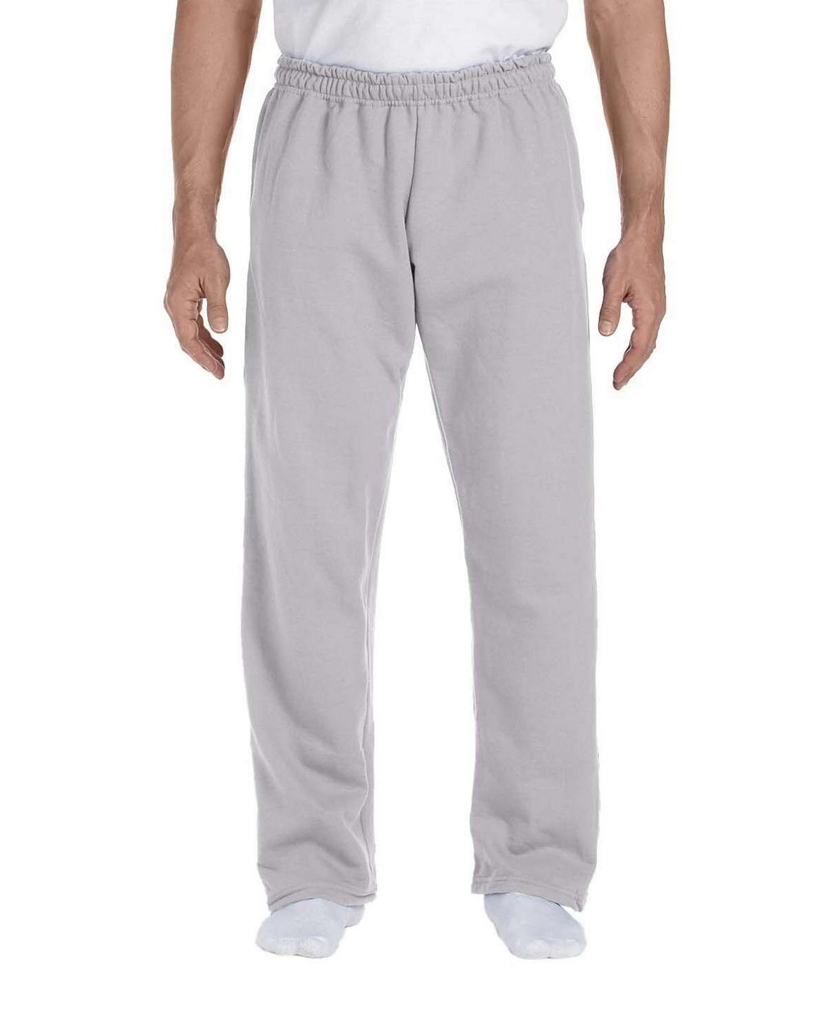 Gildan 12300 Open Bottom Sweatpants - Sport Grey - L 12300