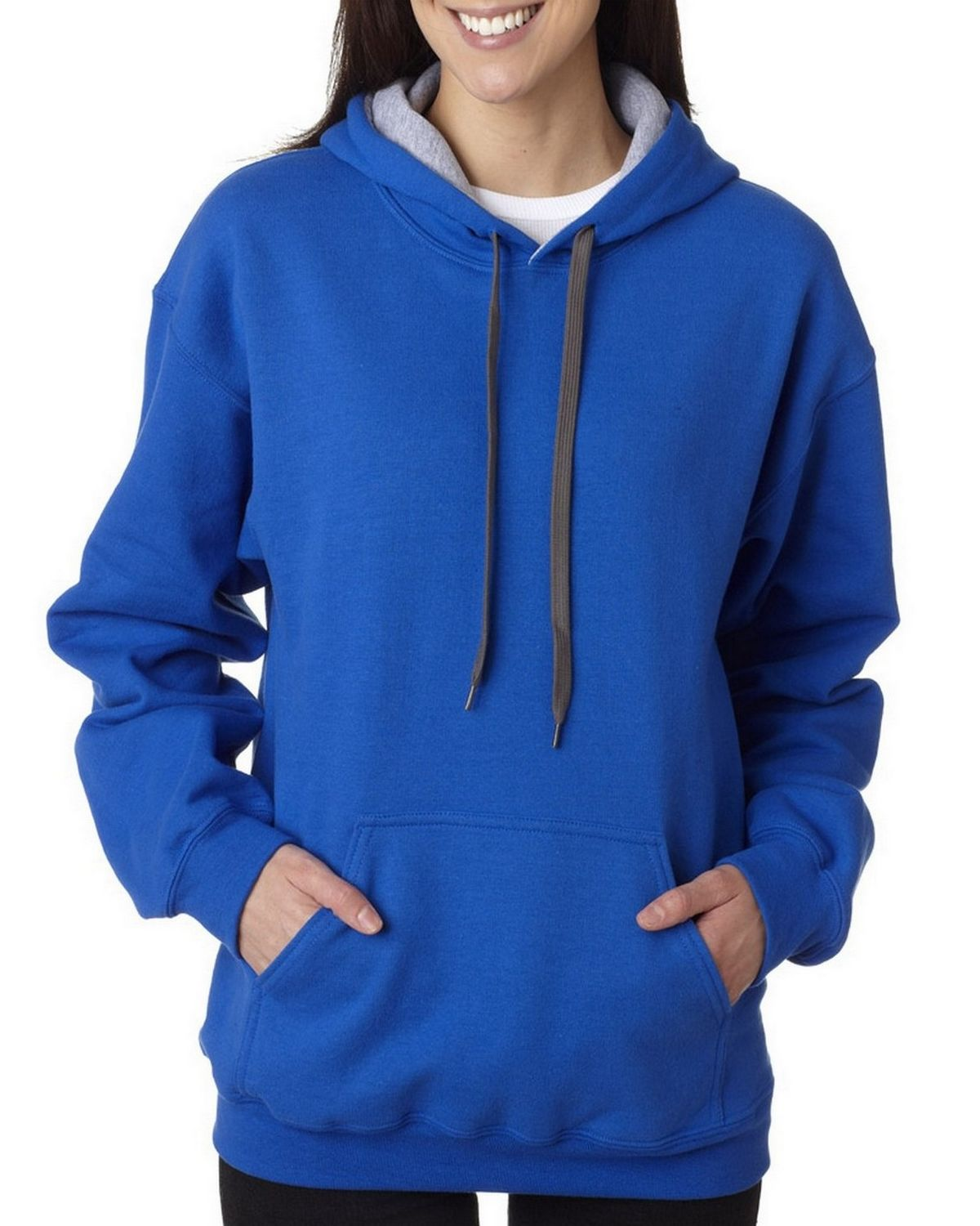 Gildan 185C00 Heavy Blend Hooded Sweatshirt - Royal/Sport/Grey - XL 185C00