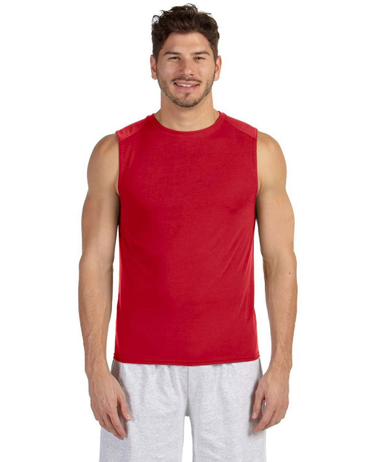 Gildan 42700 Performance Adult Sleeveless T Shirt - Red - M 42700
