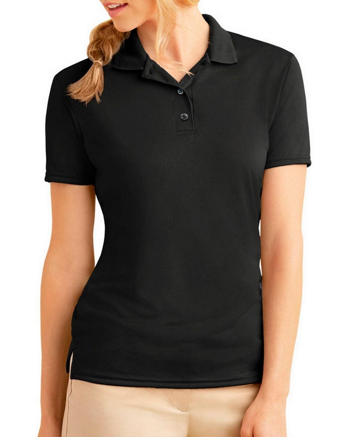 Gildan 44800L Performance Ladies Jersey Polo - Black - M 44800L