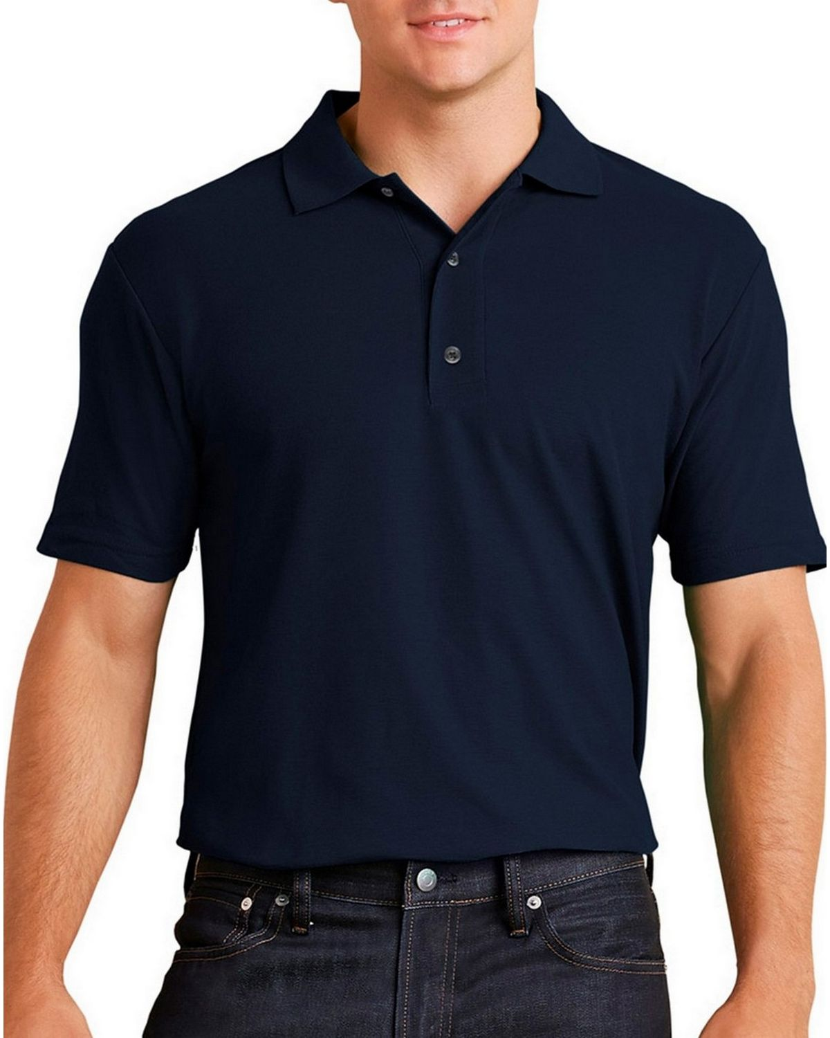 Gildan 44800 Performance Adult Jersey Polo - Marbled Navy - M 44800