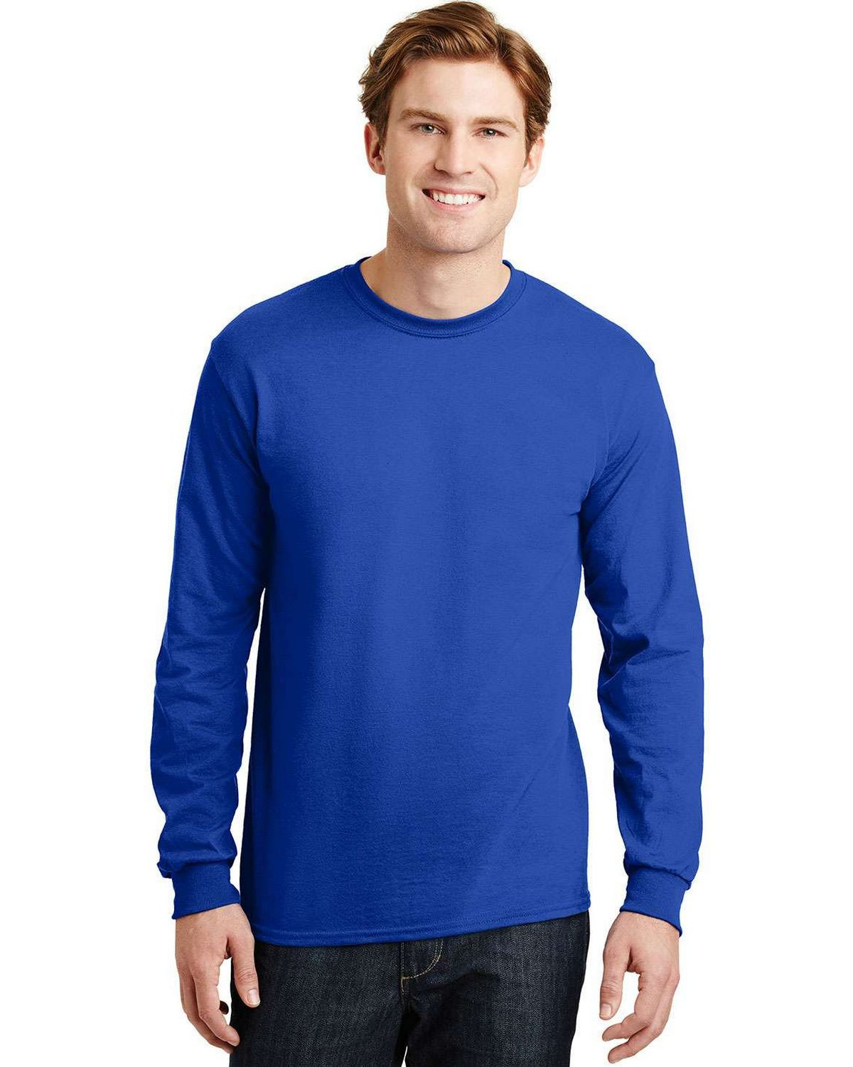Gildan 8400 DryBlend Long Sleeve T Shirt - Royal - L 8400