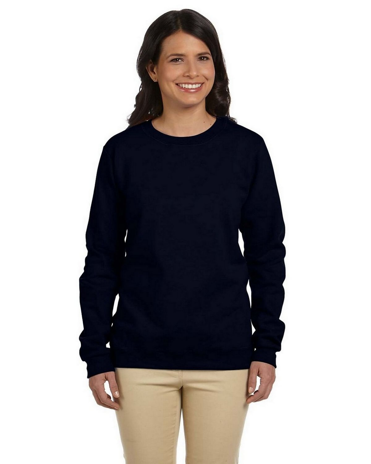 Gildan G180FL Ladies Heavy Blend Fleece Crew - Black - L G180FL