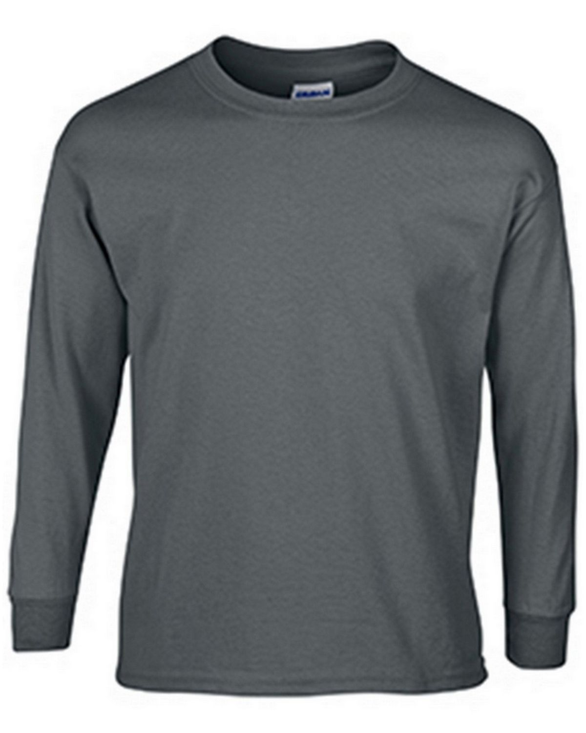 Gildan G2400B Youth Long Sleeve Tee - Charcoal - S G2400B