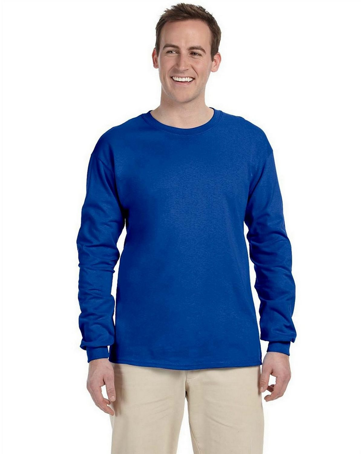 Gildan G2400 100% Cotton L Sleeve Tee - Royal - XL G2400