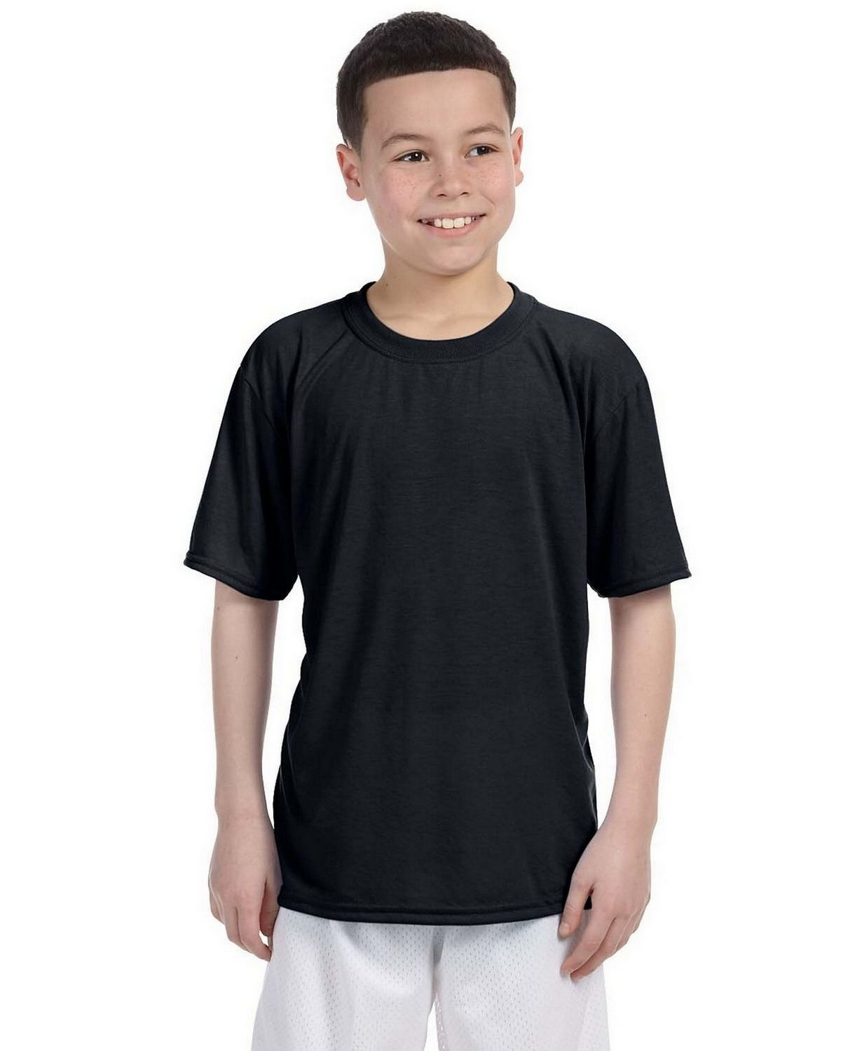 Gildan G420B Youth Performance T Shirt - Black - L G420B