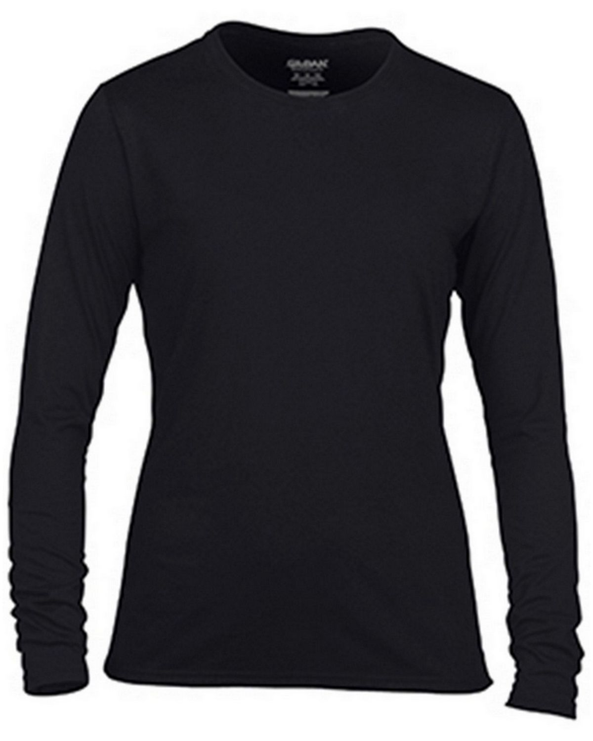 Gildan G42400L Ladies Long Sleeve Tee - Black - 2X G42400L