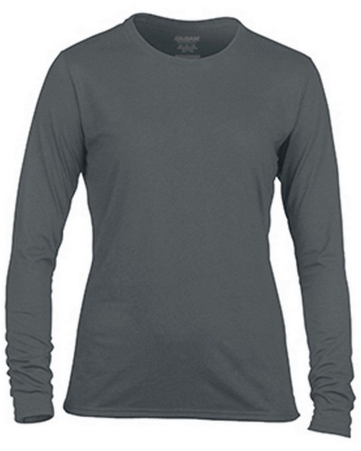 Gildan G42400L Ladies Long Sleeve Tee - Charcoal - 2X G42400L