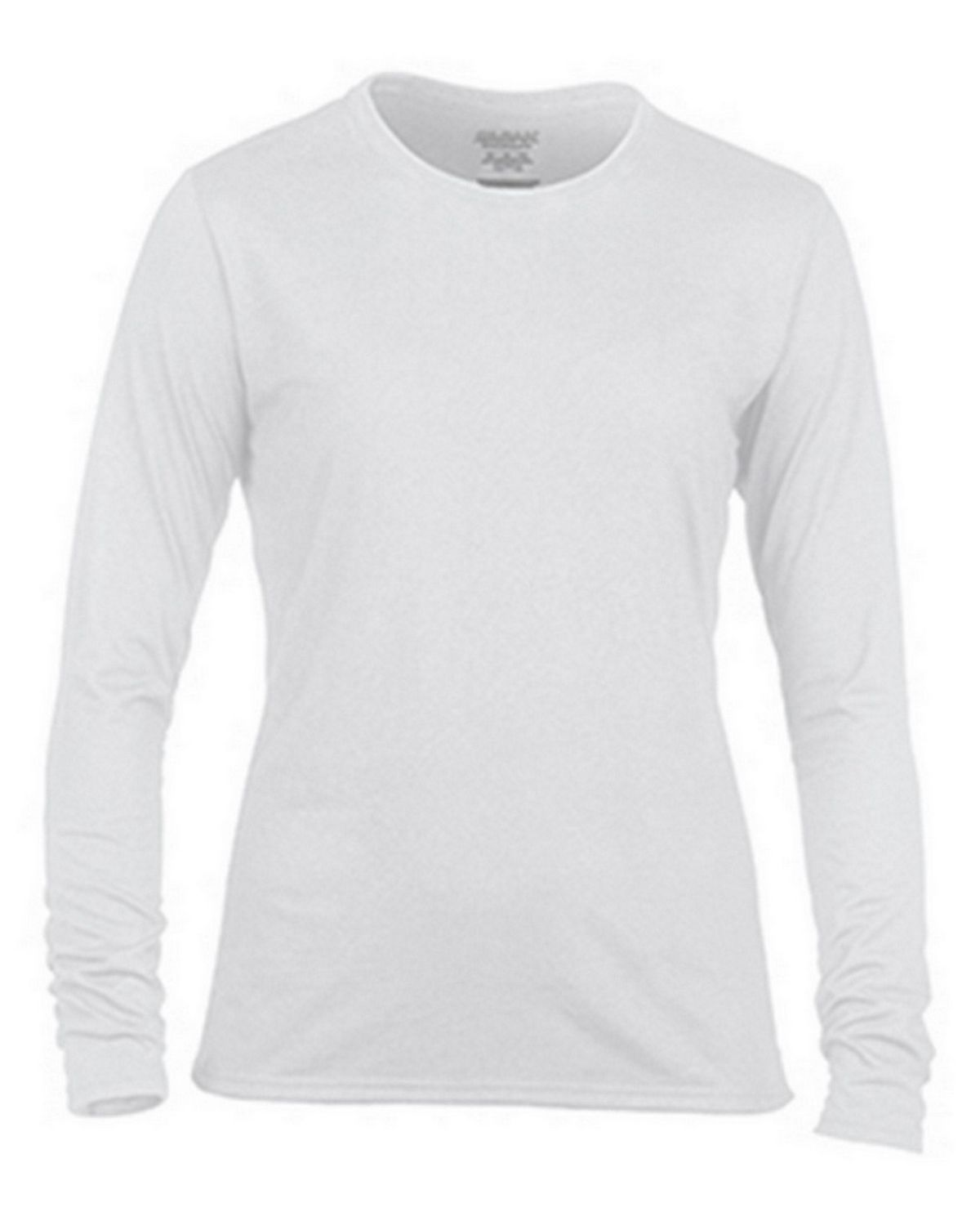 Gildan G42400L Ladies Long Sleeve Tee - White - 2X G42400L