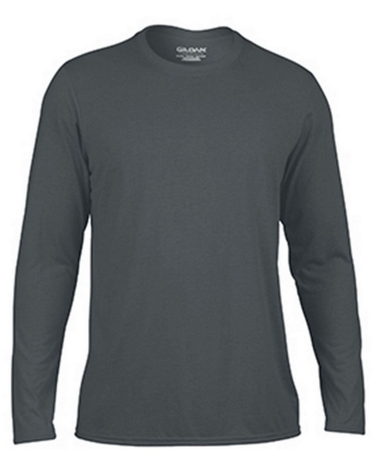 Gildan G42400 Adult Long Sleeve Tee - Charcoal - 3X G42400
