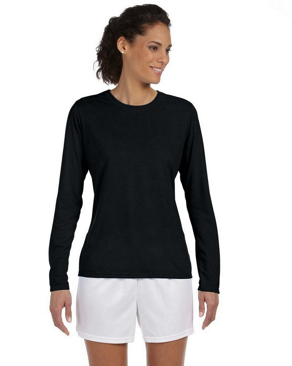 Gildan G424L Performance Long Sleeve T Shirt - Black - M G424L